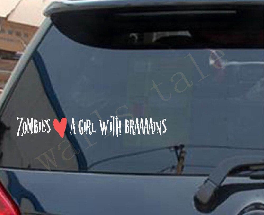 Free shipping Walking Dead Zombie decal , Zombie love sticker for car bumper / laptop s2066