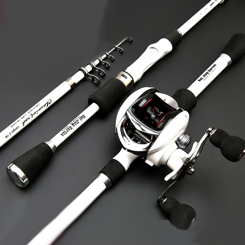 2019 new design short portable travel spinning fishing rod ultralight carbon telescopic boat rock rod stream rod for bass carp in Fishing Rods from Sports Entertainment