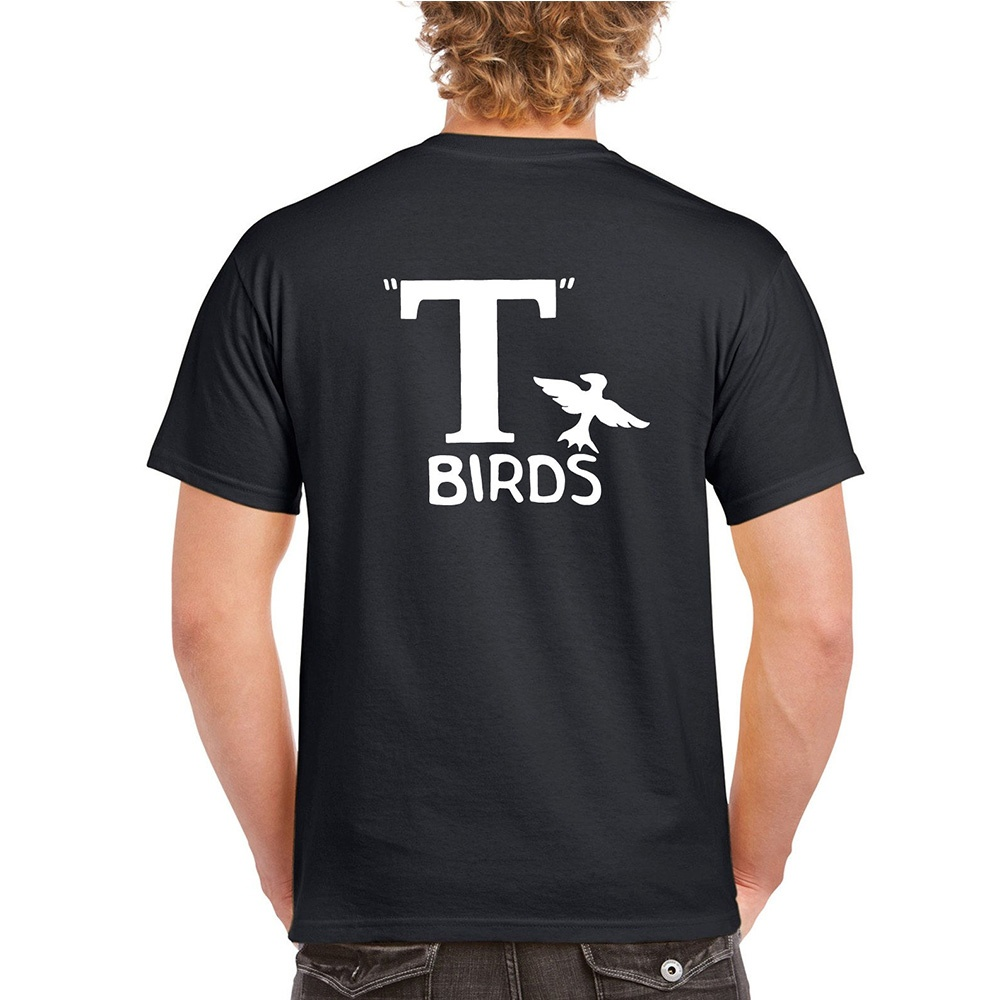 T Birds Grease Greaser 1950S Movie Men Short Sleeve Back Sides Printed T-Shirt S-3XL