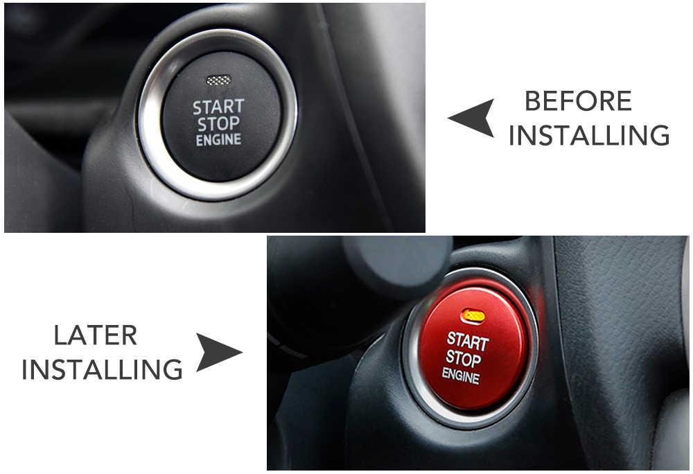 Voiture moteur démarrage arrêt anneau sans clé système de démarrage bouton décoration couvre voiture style pour Mazda 2 3 6 Axela CX-4 CX-5 ATENZA