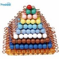 Giocattolo del bambino Perline Colorate Scala Montessori Insegnamento di Matematica Piazza 1 a 10 In Età Prescolare Early Learning Giocattoli Per Bambini Brinquedos Juguetes