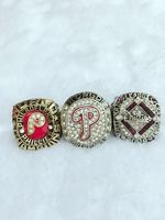 Factory Direct Sale One Set 3PCS MLB 1980 2008 2009 Philadelphia Phillies World Series Championship Ring