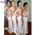 vestido para madrinhas de casamento 2015 Satin Pearls Off Shoulder Mermaid Bridesmaid Dress Guest Of Wedding cheap clothes china