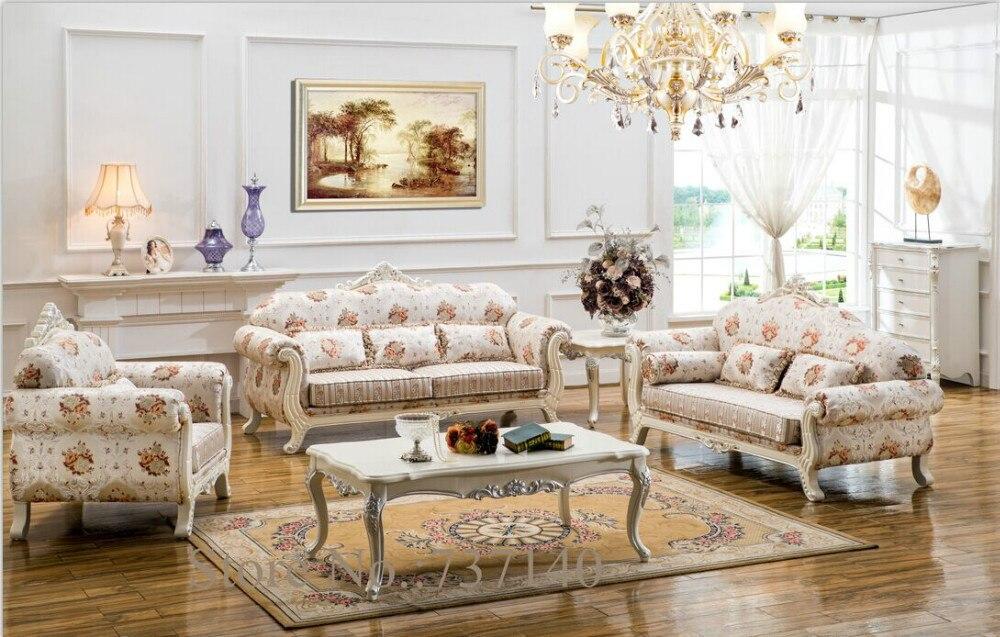 customized furniture sofa set living room furniture solid wood carving sofa  living room sofa European style leather sofa