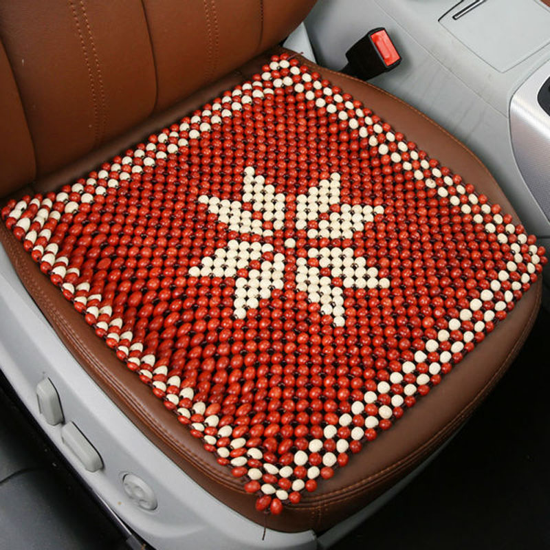 wooden bead car seat cushion car cool cushion breathable monolithic wooden beads cushion office. Black Bedroom Furniture Sets. Home Design Ideas
