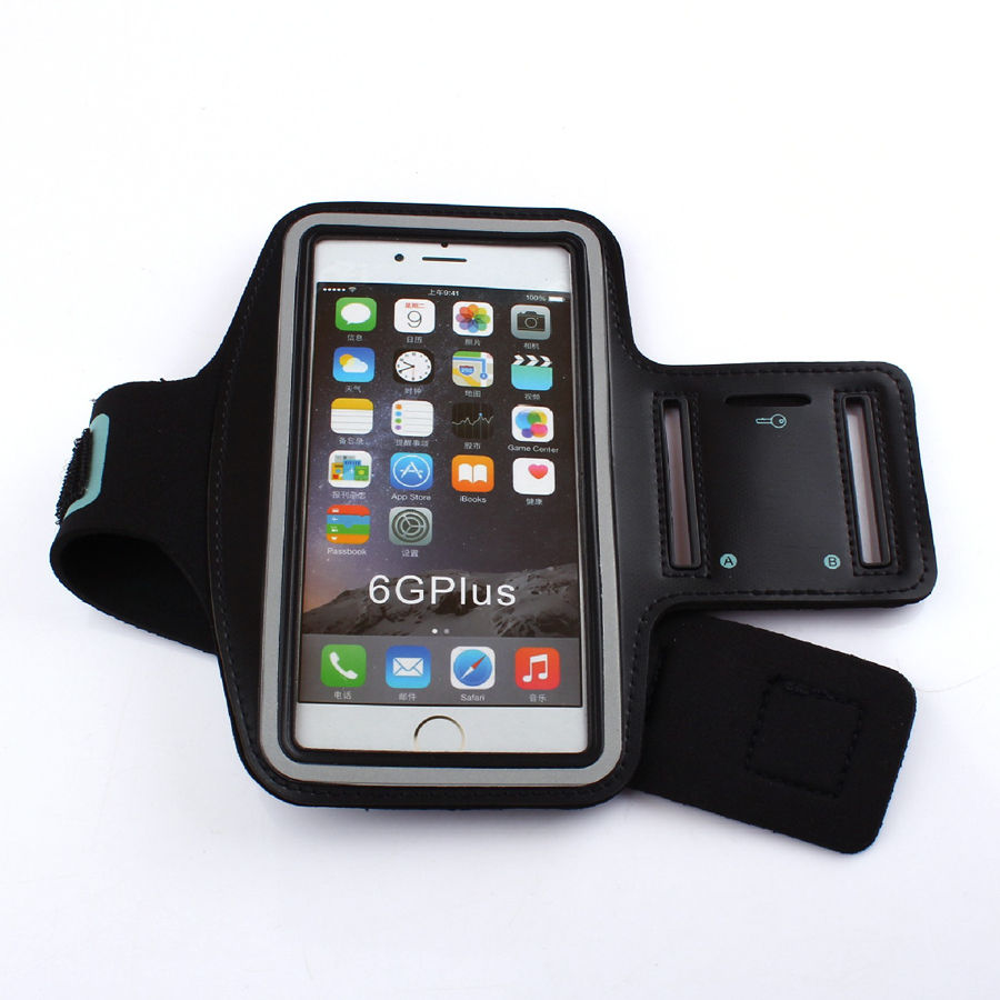 Sports Armband Case For IPhone X 8 8PLUS 7 6S Bag For Running Sports Mobile Phone Holder Reflective Bracelet Fitness