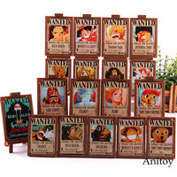 Hot Toy Anime One Piece Figure Luffy Nami Zoro Sanji Chopper Wanted Posters Photo Frame Action Collection Toys 18pcs/set