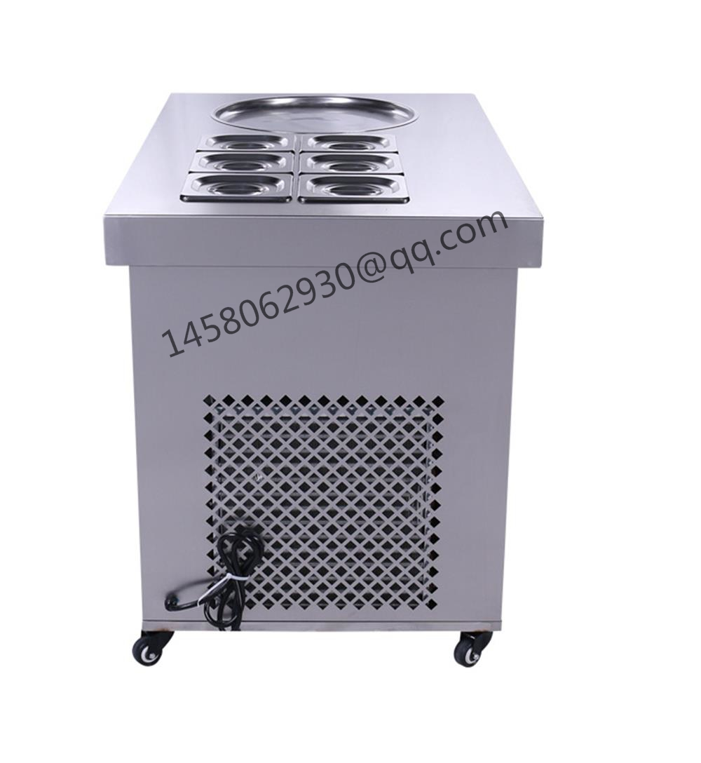 China Fry Ice Cream Roll Machine/Flat Pan Fried Ice Cream Machine/Fried Ice Cream Machine Price full stainless steel one pan fried ice cream roll machine pan fry flat ice cream maker yoghourt fried ice cream machine