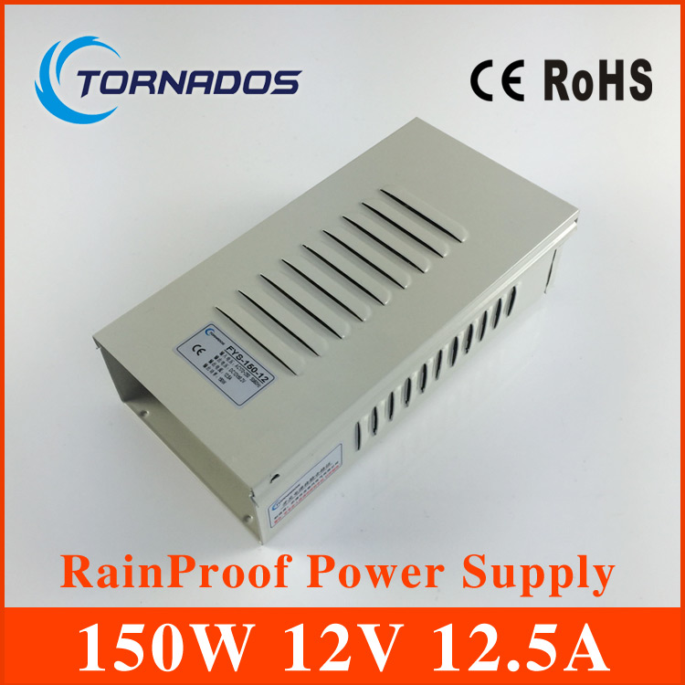 cctv power supply 150W 12V 12.5A rainproof power supply ac dc converter outdoor Switching power supply smps FY-150-12 power supply 12v 2a switching power supply ac to dc smps led converter 12v 25w uninterruptible power supply high efficiency