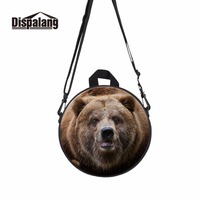 Dispalang Stylish Cool Boys Round Messenger Bag Teens Over The Shoulder School Bag Campus Casual Student