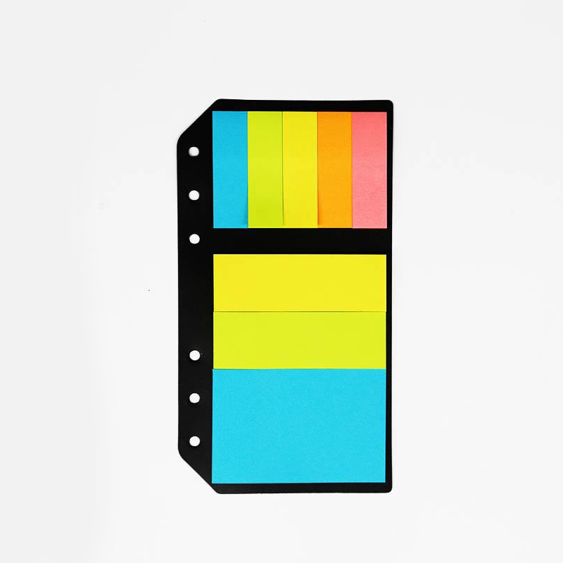 A5A6 Planner Accessory Colored Post-it N 6 Holes Binder Sticky Notes Office School Supplies Planner Spiral Memo Pads