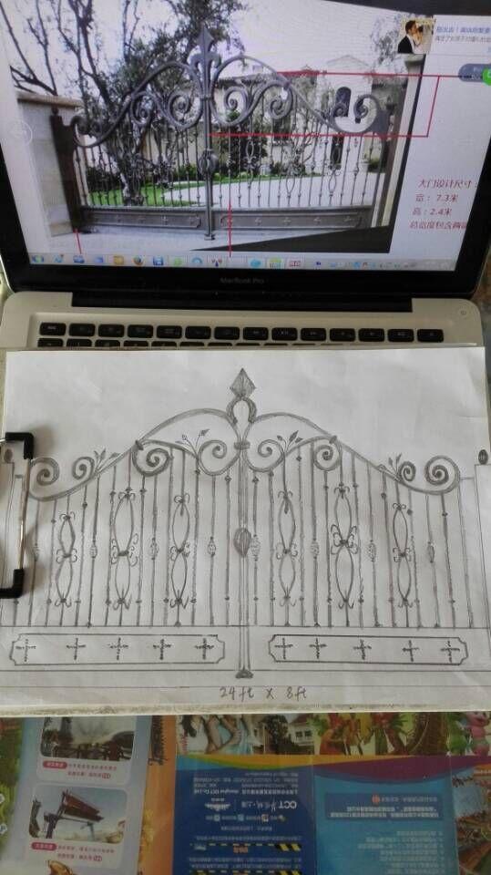 custom design jardn forjado por puertas de hierro forjado puerta de hierro forjado oct