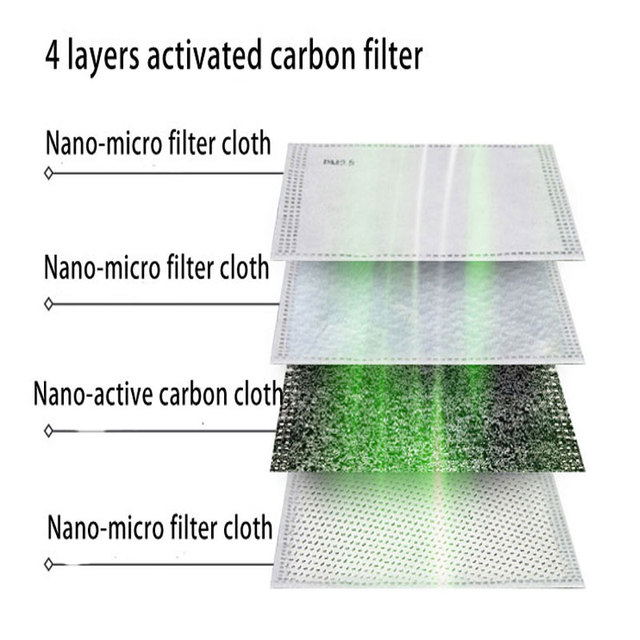 10pcs/Lot PM2.5 Filter paper Anti Haze mouth face Mask anti dust mask Filter Activated carbon filter for mask 2