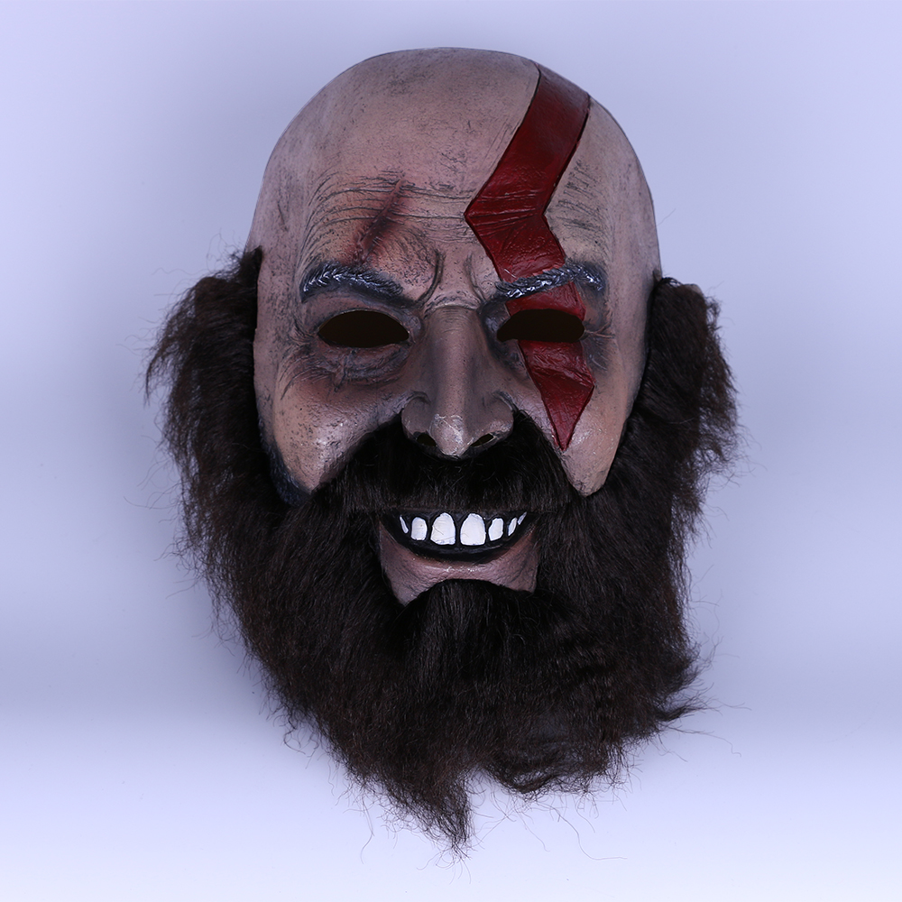 2018 Game God of War Kratos Leviathan Mask Cosplay Kratos Weapon Helmet Halloween Props (16)