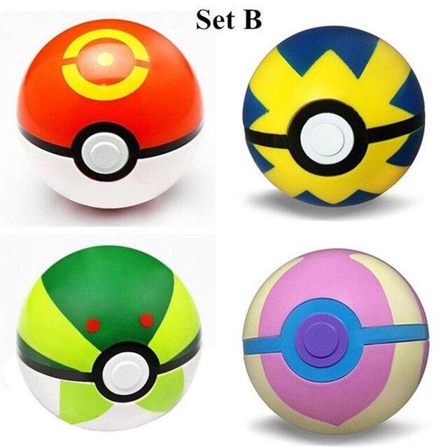 4pcs/lot Pokemon ABS Fifures Pikachu Toys