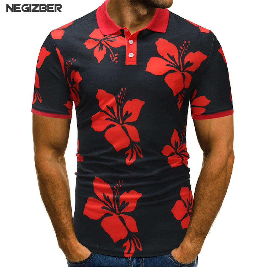 New   Polo   Mens Summer 2018 Men   Polo   Shirt Casual Floral   Polos   Homme Male Printed Short sleeve Camisa   Polo   Shirt Tops For men