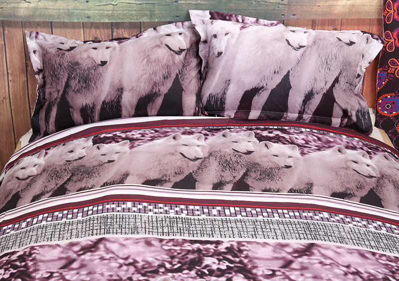 Wolf Bedding Set Queen Size 3D Animal Wolves Duvet Cover Set All size Dropshipping in Bedding Sets from Home Garden