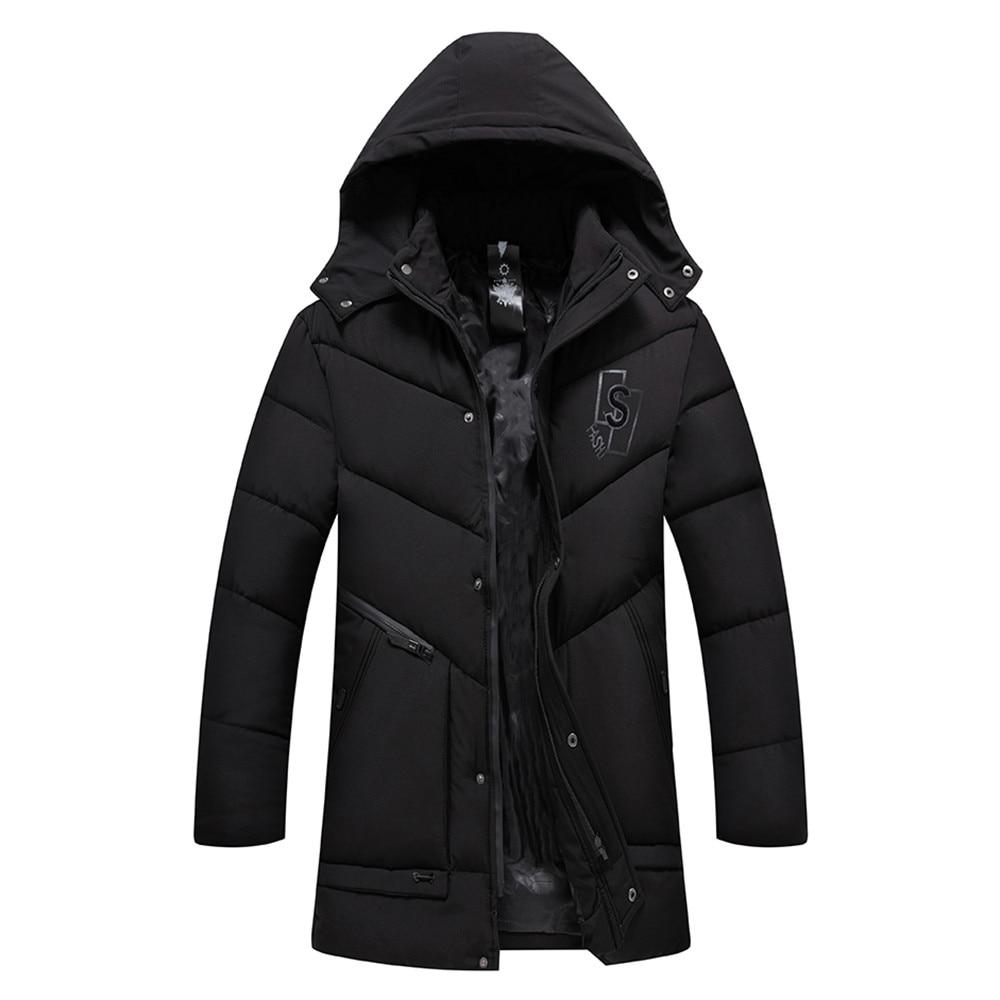 Men's Autumn Winter Pure color Pocket Open a hat Zipper Hooded Jacket Top Coat#g6