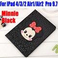 10x cubierta de cuero de la pu para ipad 4/3/2 smart case para ipad air1 air2 para ipad pro 9.7 moda mickey y minnie i615