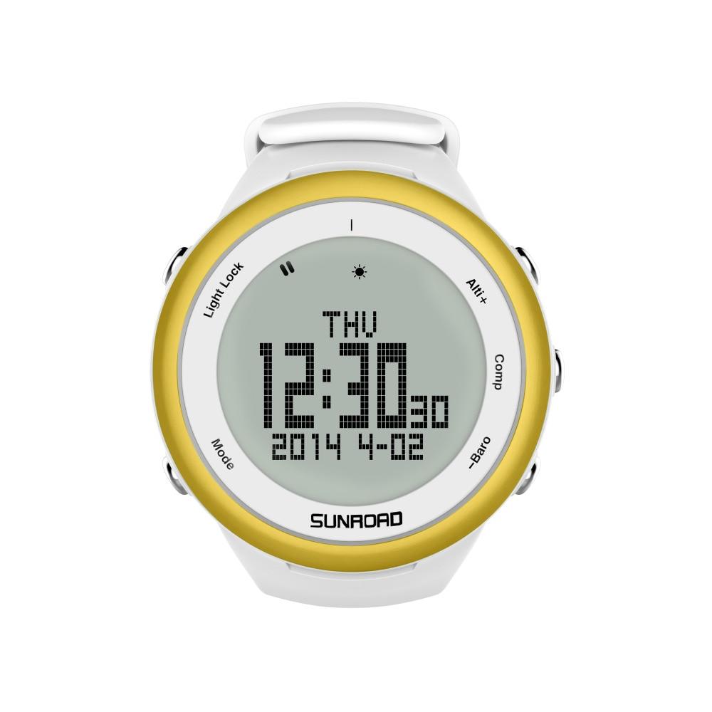 SUNROAD FR852A Climbing Watch  Pedometer Barometer Altimeter Compass Backlight Waterproof Digital Smart Sports Watch (Gold)