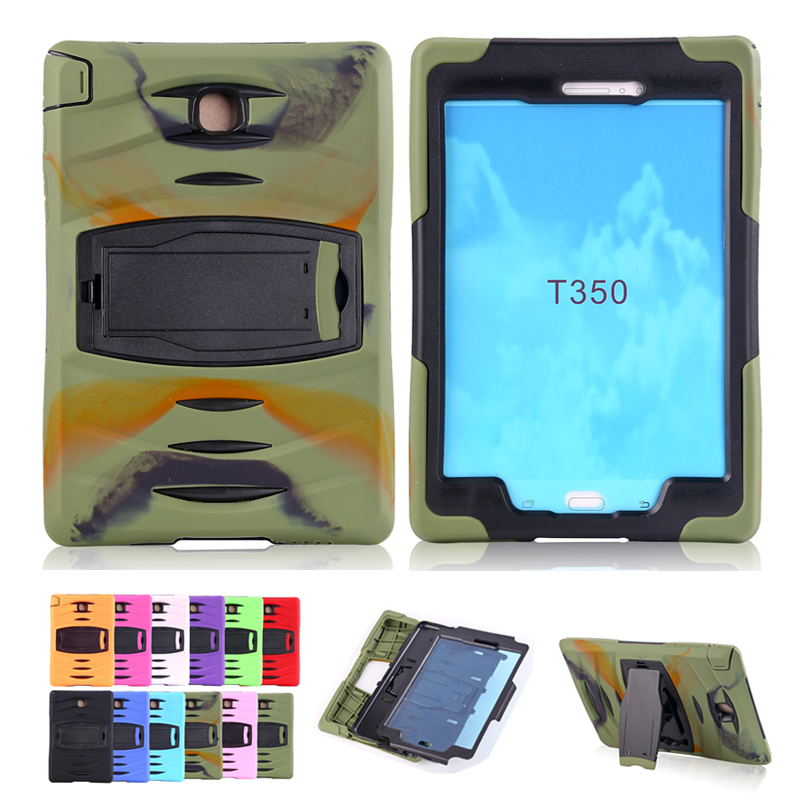 Luxury Shockproof Kickstand Case for Samsung Galaxy Tab A 8 0 T350 T351 T355 Soft Silicone