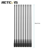 10pcs Retevis RHD 771 SMA F UHF/VHF Antenna For Kenwood Baofeng UV 5R Retevis H777 RT5 PUXING Walkie Talkie C9030A