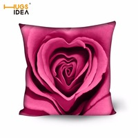 HUGSIDEA Rose Flora Square Cushion Flowers Print Decorative Bed Throw Waist Cushion Car Seat Pillow Outdoor