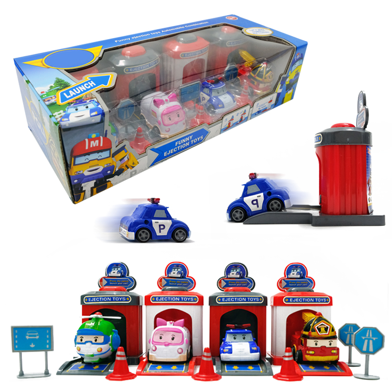 The Ambulance International Tow Truck 6pcs Car Helicopter Kids Toy Car Set Box