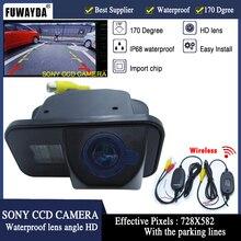 Fuwayda Беспроводной Sony CCD Сенсор автомобиля зеркало заднего вида изображения Справочное руководство линии камеры для 2006-2009 Toyota avensis