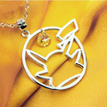 Pikachu silver 925 pendant japanese cartoon necklaces silver 925 material Pikachu pendant,