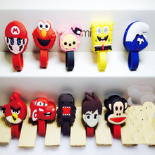 Kawaii Winder Cable Cartoon Character Earphone Organizer Headphone Cord Holder Headset Usb Cable Management Silicone Winder