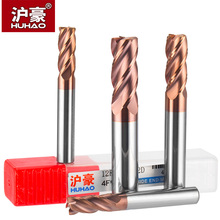 HUHAO 1pc Tungsten steel Round Nose Cutter CNC Tool Alloy Coating Cutter 4 Blade End Mill Copper Cast Iron Processing Router Bit 1pc superior cemented tungsten carbide round slot mill cutter core box bit woodwork tool yhdx1 2x1
