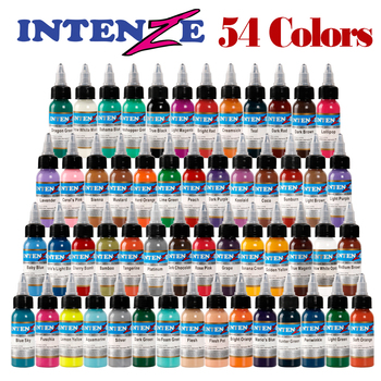 54colors Natural Plant Tattoo Pigment Permanent Makeup Bottle 30ml attoos Ink Pigment For Body Professional Beauty Art Supplies