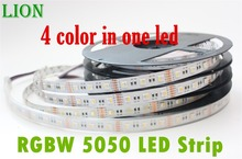 Waterproof IP20/65 LED Strip RGBW /RGBWW, SMD 5050 chip 12V flexible light RGB+White /warm white,4 color in 1 led chip,60Leds/m