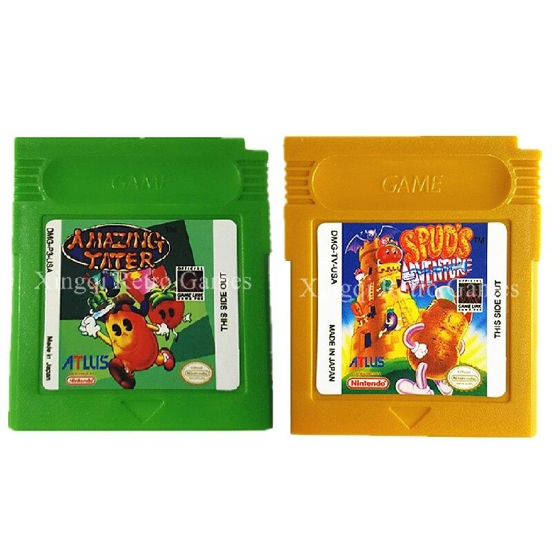 Nintendo Game Boy Color GBC Game Increíble Tater Series Cartucho de Consola de V
