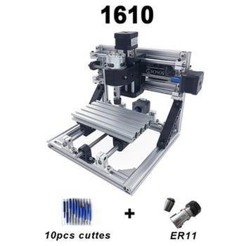 DIY Mini 3 Axis 1610 CNC engraving Machine Pcb Milling Wood Router laser Engraver 500mw 2500mw 5500mw
