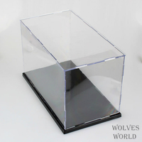 Transparent Assembled Acrylic PlexiglassHood Dust proof Box Transparent Model Display Box 31*19*17 Anime Action Figures