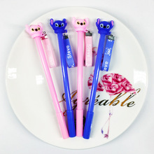 48pcs/pack Erasable Blue Ink Creative Cute Cartoon 3D Stitch Students Gel Pen Water Signing School Office Stationery