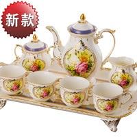 Прямая Заводская цена Новая мода высокого класса люкс 8 Европейский послеобеденный чай кофе набор рождения свадебный подарок