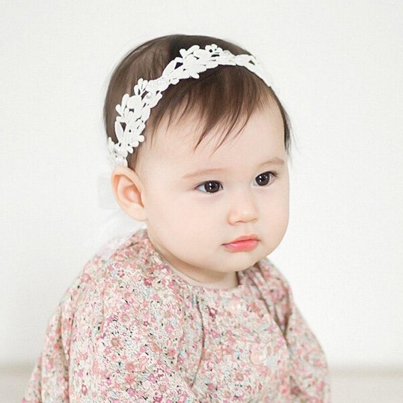 Baby Headband Lace Flower Girls Headband Hair Bow Flower For Baby ... 0c742b005347