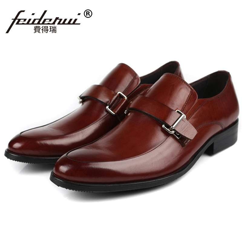 New Arrival Round Toe Handmade Man Casual Shoes Genuine Leather Male Slip on Loafers New Arrival Comfortable Men's Flats TH63 new summer breathable men genuine leather casual shoes slip on fashion handmade shoes man soft comfortable flats lb b0009