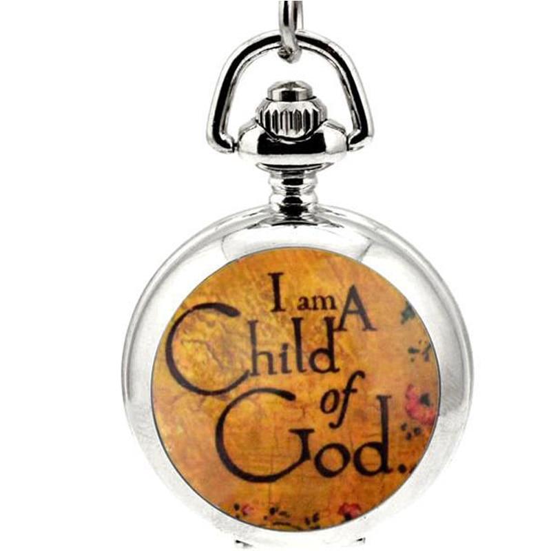 Venta caliente Soy un Niño de Dios Diseño de reloj de bolsillo - Relojes de bolsillo