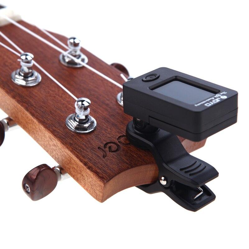 Ferramenta Kit Guitar Tuner + Capo + Suporte + 7 Picks Celluloid Palheta Caso Ajuste Mediador Capotraste Guitarra Peças Acessórios 1