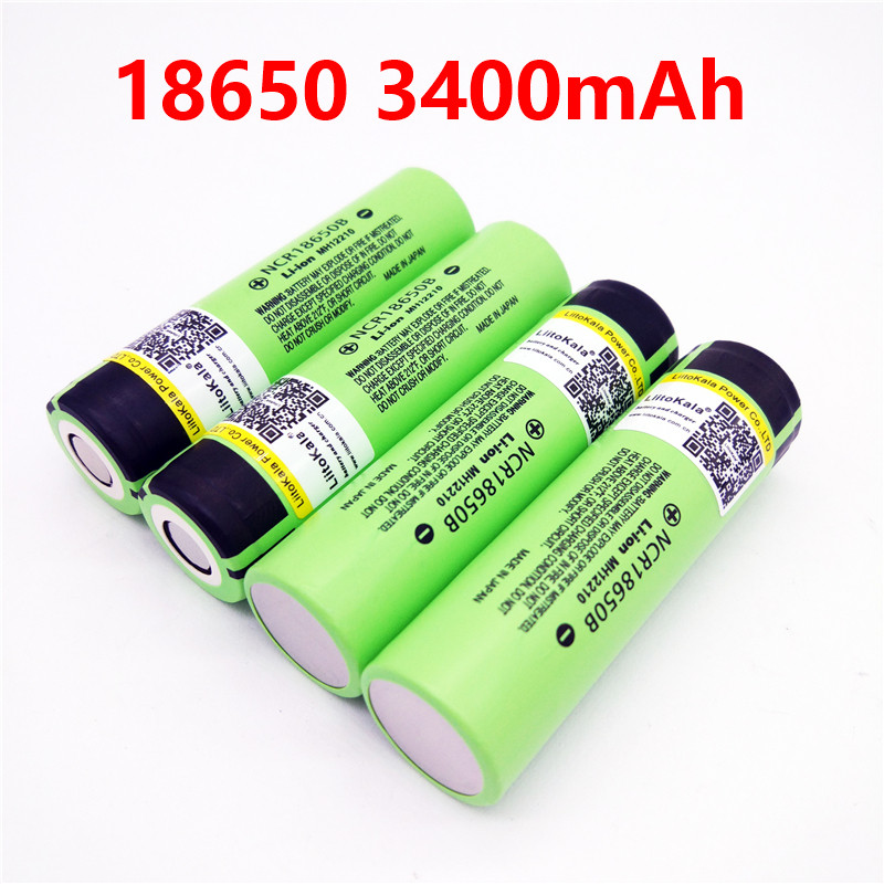 2017 liitokala lii-34B 18650 3400mah New Original NCR18650 3400 34B Rechargeable Li-ion battery for panasonic 18650 3400mah panasonic ncr18650b super max 3 7v 3400mah rechargeable li ion battery black green