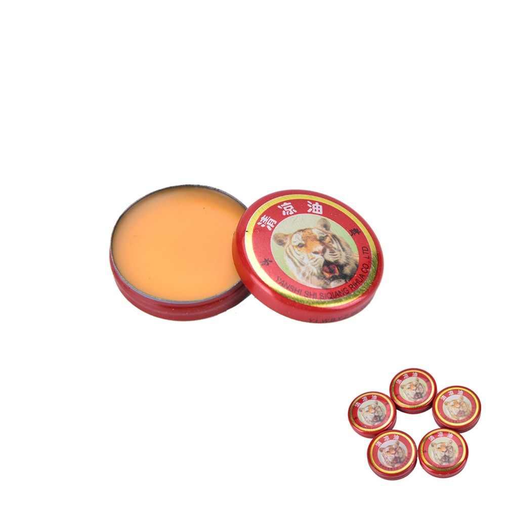 2018 caliente 5 piezas de aceite de Omintment chino masajeador muscular de tigre relajar bálsamo esencial refrescar el tratamiento de la Influenza dolor de cabeza mareos