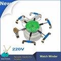 220 V Ferramentas de Reparação do Relógio 6 Braços Dobadoura do Relógio automático, Relógio Ferramentas Testador, Cyclotest Relógio Enrolador Para relojoeiro testes