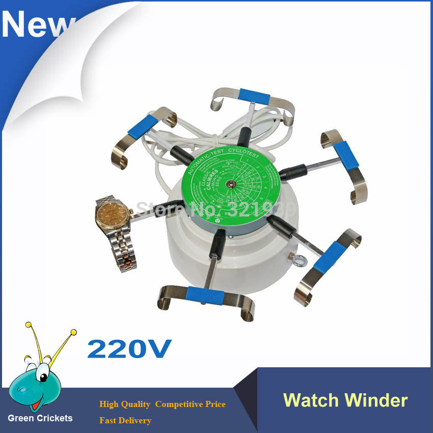 Prix pour 220 V Montre Outils De Réparation 6 Bras automatique Montre Enrouleur, Montre Testeur Outils, Cyclotest Montre Enrouleur Pour horloger tests