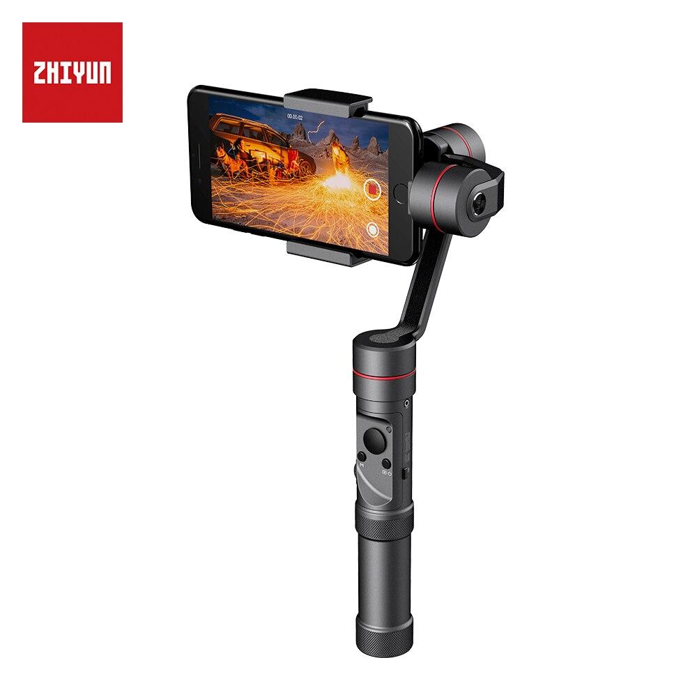 Zhi yun Zhiyun Offizielle Glatte 3 3-achsen Handheld Gimbal Stabilizer telefon Stabilisator für iPhone X 8 8 Plus 7 7 Plus