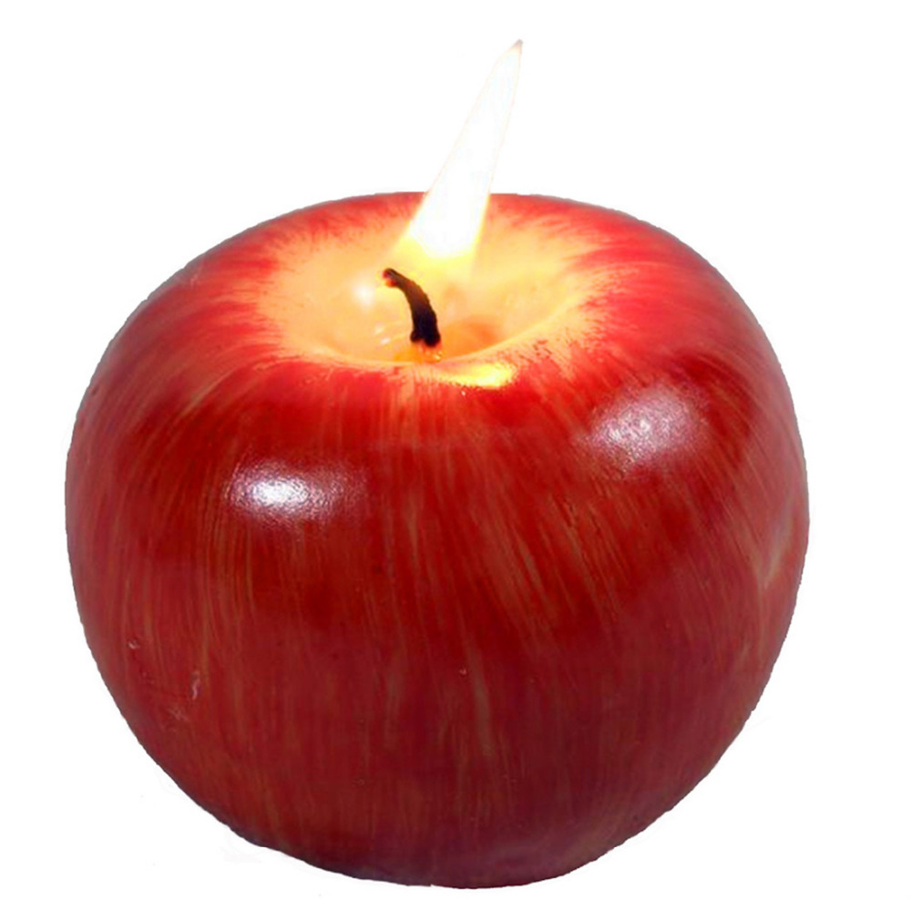 Christmas Gift Emulational Apple-shaped Fragrant Candle Christmas' Eve Gift Small Size