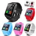 Dropship Смарт Bluetooth Watch Наручные Часы спорт цифровые часы U8 u часы для Android Samsung телефон/Примечание высокое качество Носимых Устройств